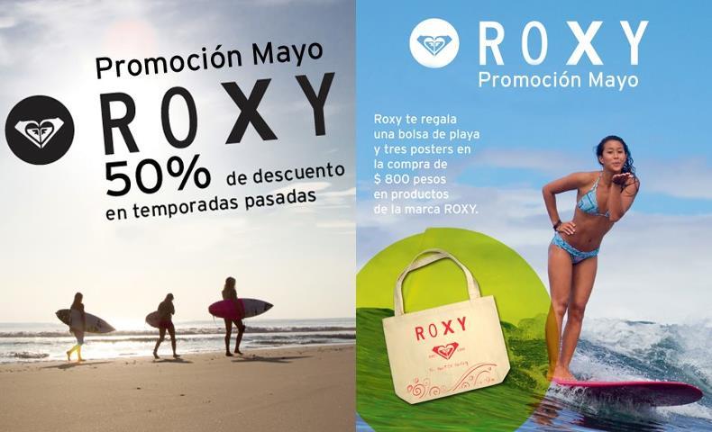 Roxy: 50% de descuento en temporadas anteriores y bolsa de regalo