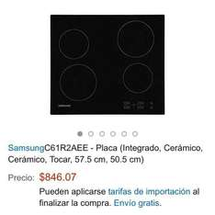 Amazon: Estufa  (cerámica) Samsung C61R2AEE $846, envió gratis