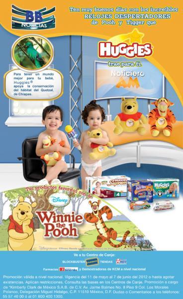 Huggies: relojes desperadores de Pooh y Tiger con 16 puntos y $115