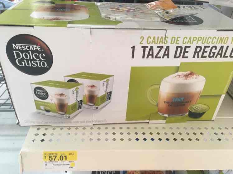 Walmart: Dos cajas de cappuccino + taza por $57.01