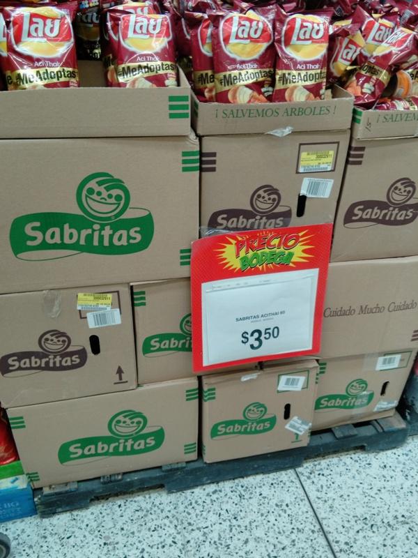 Bodega Aurrerá: Botanas Lay Acid Thai de sabritas y Sarten con 6 bolsas maggi