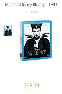 Sam's Club: Maléfica Disney Blu-Ray + DVD a $49