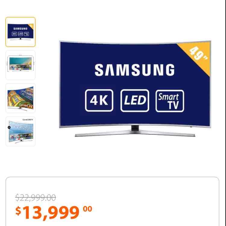 Walmart: TV Samsung 49 Pulgadas Curva 4K Ultra HD Smart TV LED UN49KU6500FXZX