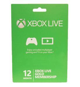 Ebay: 12 meses Xbox Live Gold (25% desc)