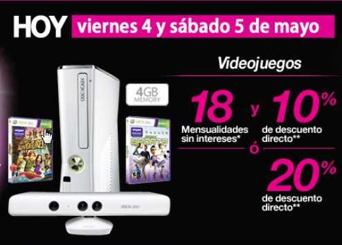 Liverpool: Xbox con Kinetc o PS3 con Uncharted 3 a $3,599. PS Vita Bundle $4,799. 20% de descuento en videojuegos.
