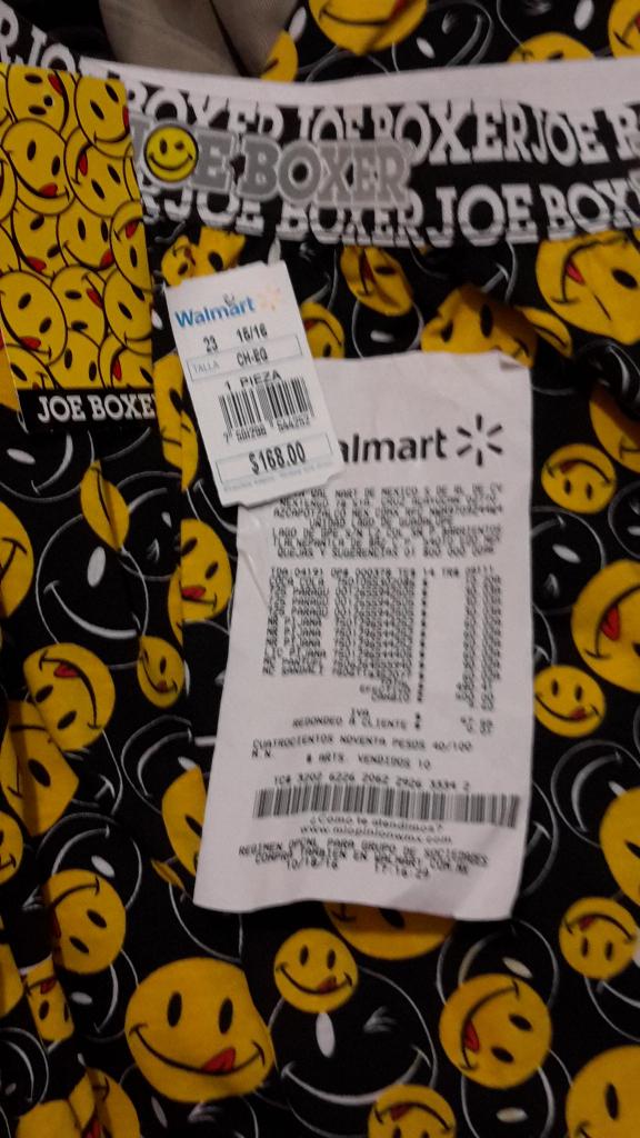 Walmart: Pijama de Pacman marca Joe Boxer comprado en liquidacion