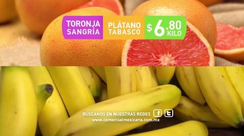 Comercial Mexicana y Mega: Hoy es Miércoles 19 Octubre: Toronja y Plátano $6.90 kg; Cebolla o Manzana Starking $19.50 kg.