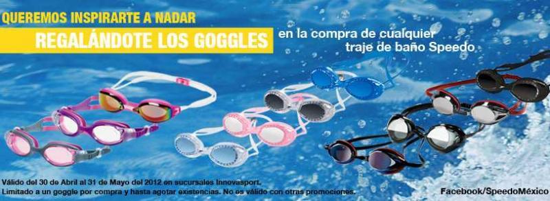 Innova Sport: 20% en monedero en tenis de mujer y goggles gratis en la compra de traje de baño Speedo