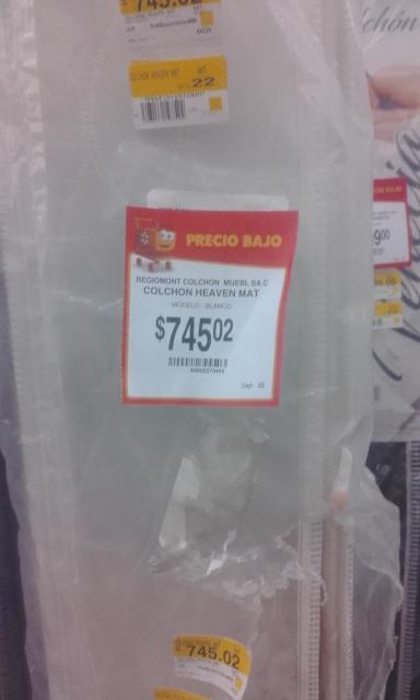 Walmart: Colchon Matrimonial a $745.02