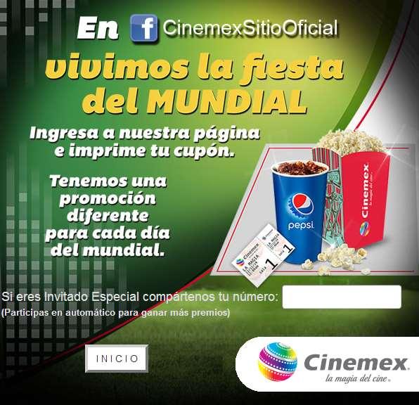 Cinemex: un cupón diferente todos los días (se necesita Facebook)