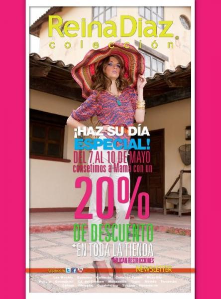 Reina Díaz: 20% de descuento en toda la tienda
