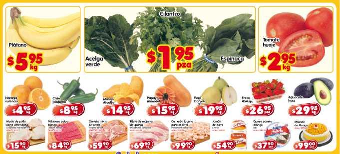 Frutas y verduras HEB: plátano $5.95 Kg, acelga y espinaca $1.95 la pieza y más