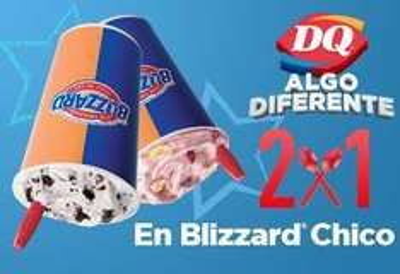 Dairy Queen: 2x1 en blizzard con cupón
