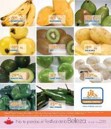 Miércoles de frutas y verduras Chedraui mayo 2: cebolla $7.90 Kg, uva $34.90 Kg y más