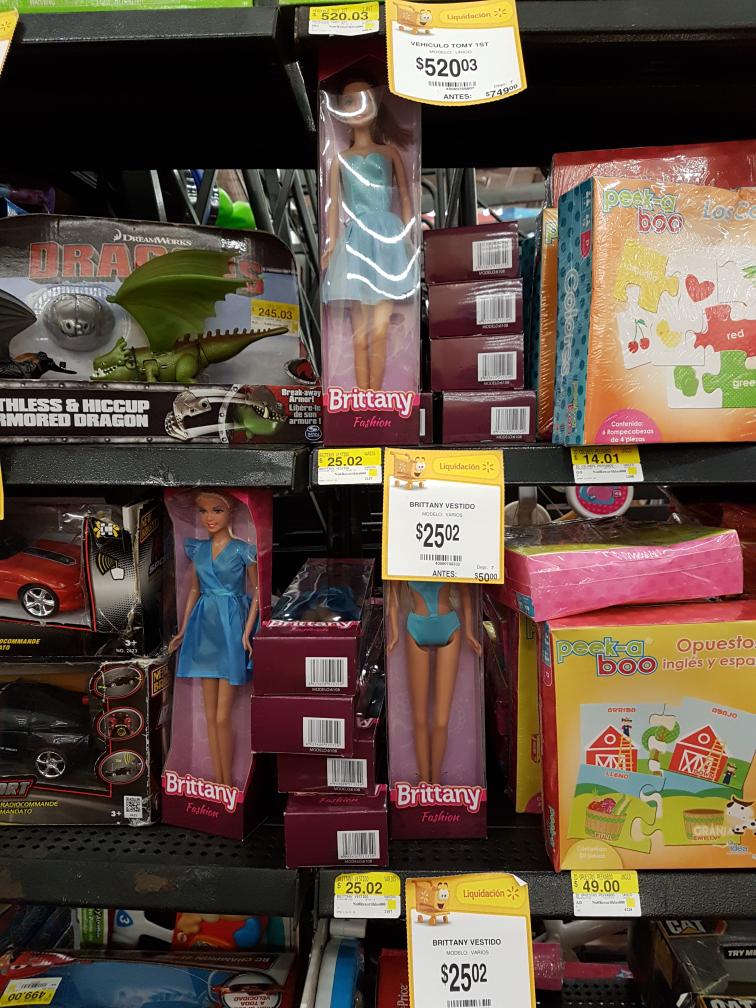 Walmart Universidad (CDMX): Muñeca Brittany a $25.02