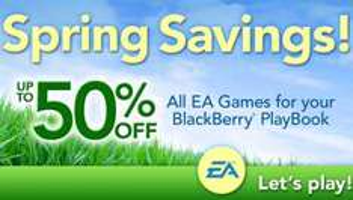 Hasta 50% de descuento en juegos de EA para BlackBerry PlayBook