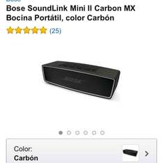 Amazon: Bose SoundLink Mini II Carbon MX Bocina Portátil