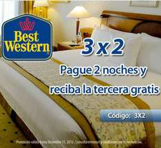 Hoteles Best Western: tercera noche gratis