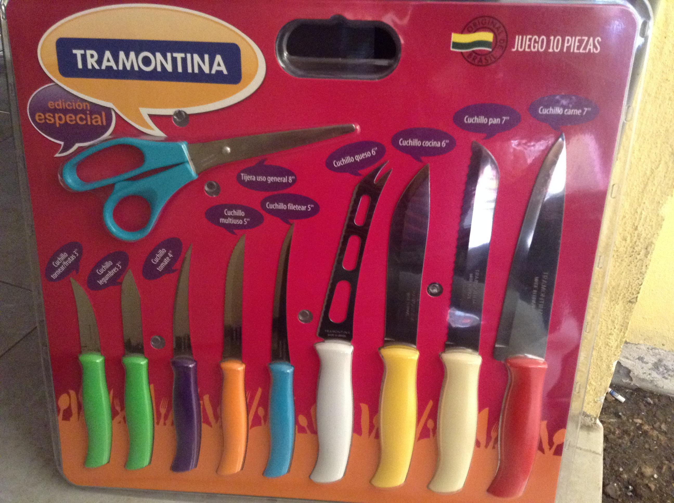 Walmart Eloy Cavazos: Juego de 10 piezas de cuchillos tramontina a $39.01