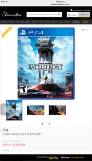 Palacio de Hierro: Star Wars Battlefront PS4