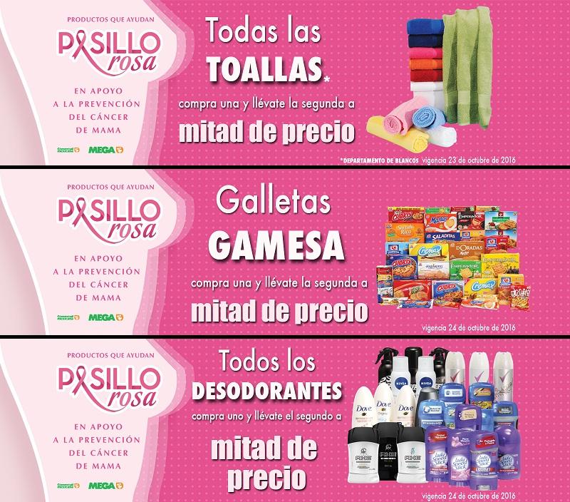 Comercial Mexicana y Mega: 2 x 1½ en todas las toallas, galletas Gamesa y todos los desodorantes