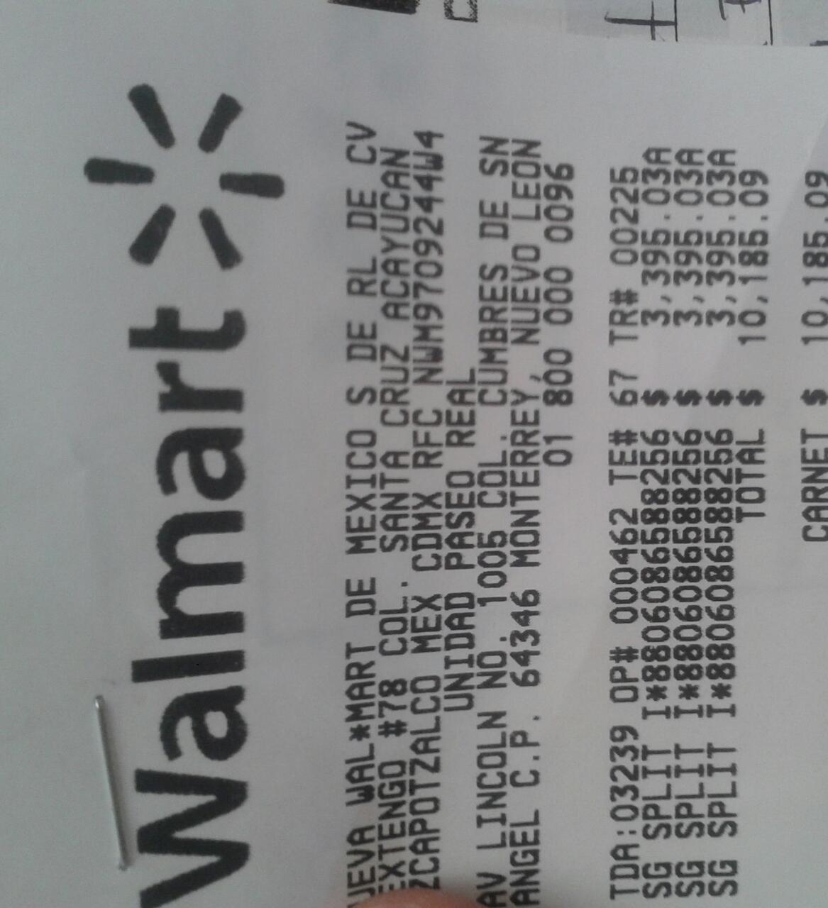 Walmart Paseo Real monterrey: minisplit Samsung Inverter a $3,395.03