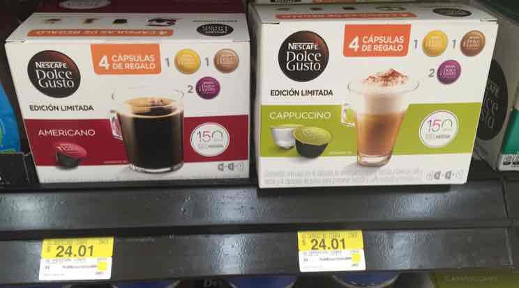 Walmart Saltillo: nescafe dolce gusto 20 cápsulas + 1 taza a $24.01
