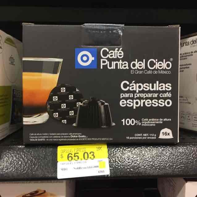 Walmart: Capsulas Punta del Cielo Espresso