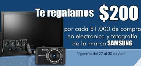 Comercial Mexicana: $200 de bonificación por cada $1,000 en electrónicos Samsung