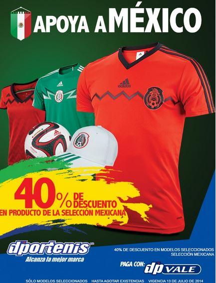 Dportenis: 40% de descuento en artículos de la selección mexicana