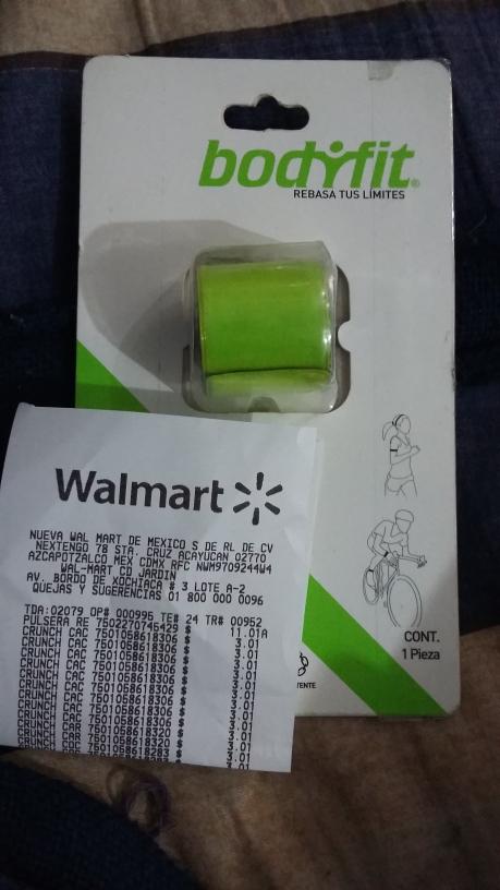 Walmart Cd. jardín: pulsera reflectante $11.01