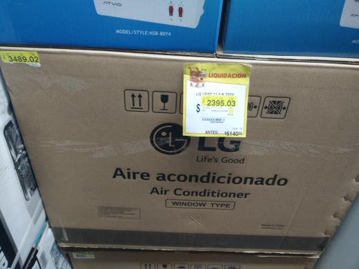 Walmart Centro Sur: A/C LG W122CM