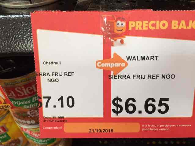 Walmart: frijoles La Sierra 430gr a $6.65