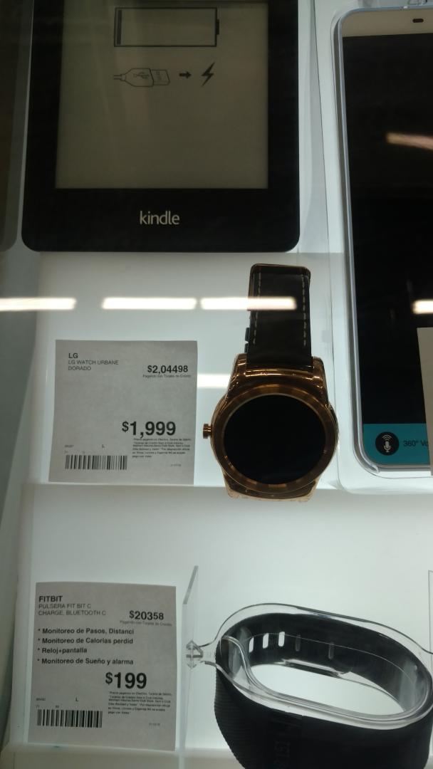 Sam's Club Coatzacoalcos: LG Urbane a $1,999 y pulsera Jawbone a $199