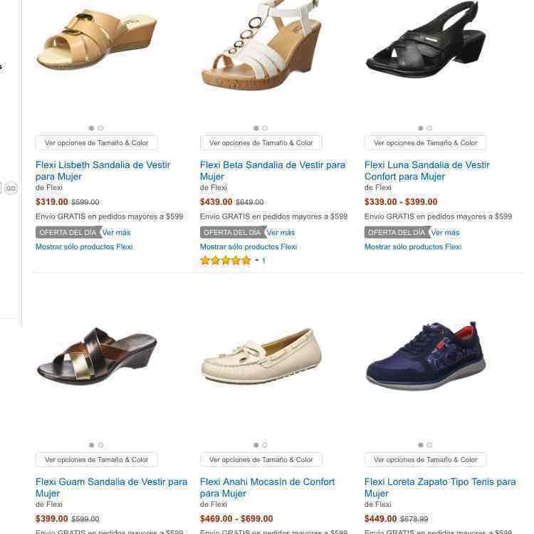Amazon: Oferta en calzado para dama marca Flexi