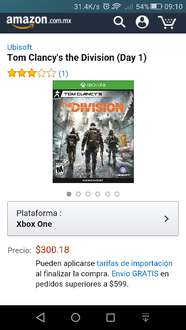 Amazon: Tom Clancy's the Division (Day 1) para Xbox One