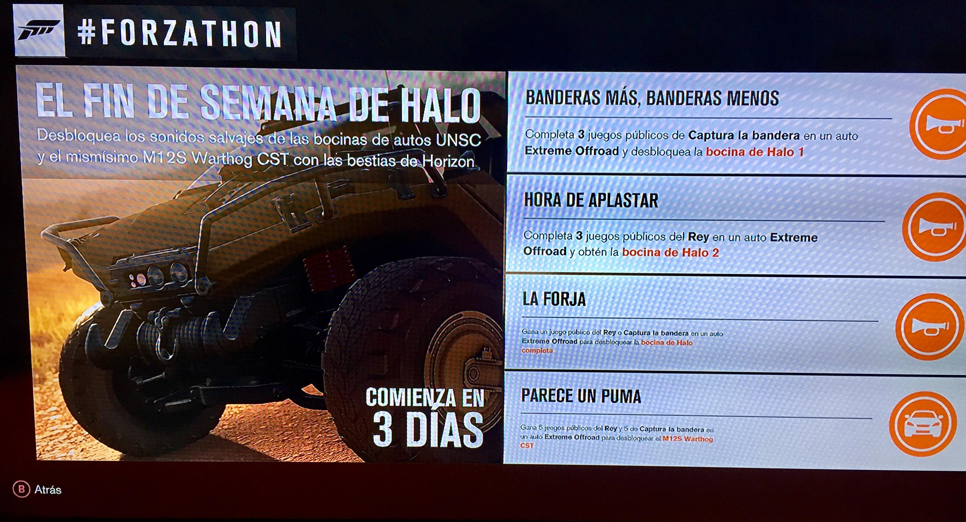 """Forzathon Octubre: Forza Horizon 3 """"Vehículo Warthog de Halo"""""""
