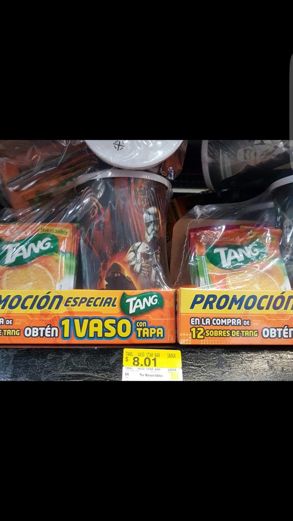 Walmart: Vaso de Star Wars y 12 sobres Tang a $8.01