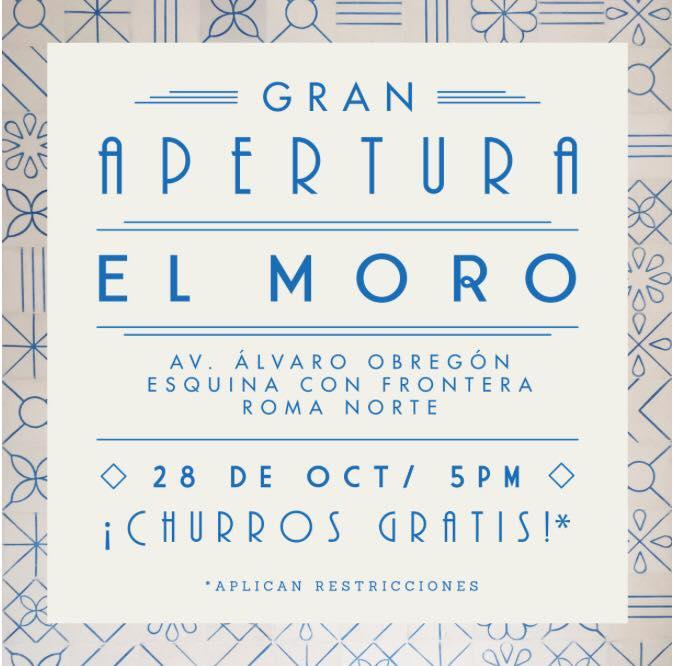 El Moro Roma: Churros Gratis *