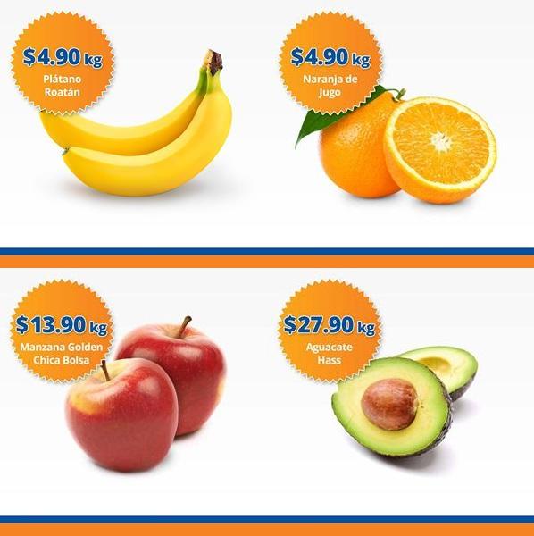 Chedraui: Martimiércoles de Frutiverduras 25 y 26 Octubre:  Naranja o Plátano  $4.90 kg; Manzana Golden Bolsa $13.90 kg; Aguacate $27.90 kg