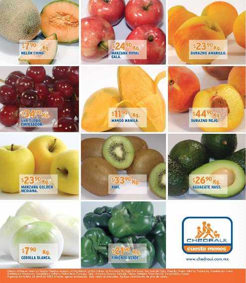 Miércoles de frutas y verduras Chedraui abril 25: mango $5.90 Kg, brócoli $4.90 Kg y más