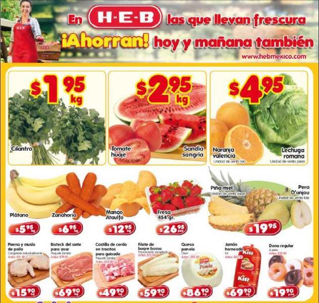 Frutas y verduras HEB: tomate $2.95 Kg, cilantro $1.95 Kg y más