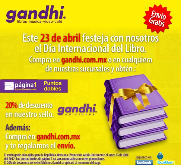 Gandhi: 20% de descuento en libros de Gandhi Ediciones y más