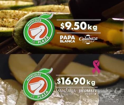 La Comer y Fresko: Miércoles de Plaza 26 Octubre: Papa o Calabaza $9.50 kg; Manzana o Jitomate $16.90 kg