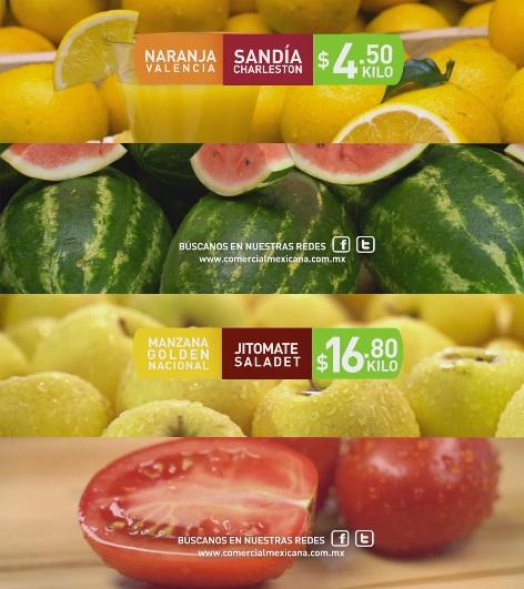 Comercial Mexicana y Mega: Hoy es Miércoles 26 Octubre: Sandía o Naranja $4.50 kg; Manzana o Jitomate $16.80 kg.