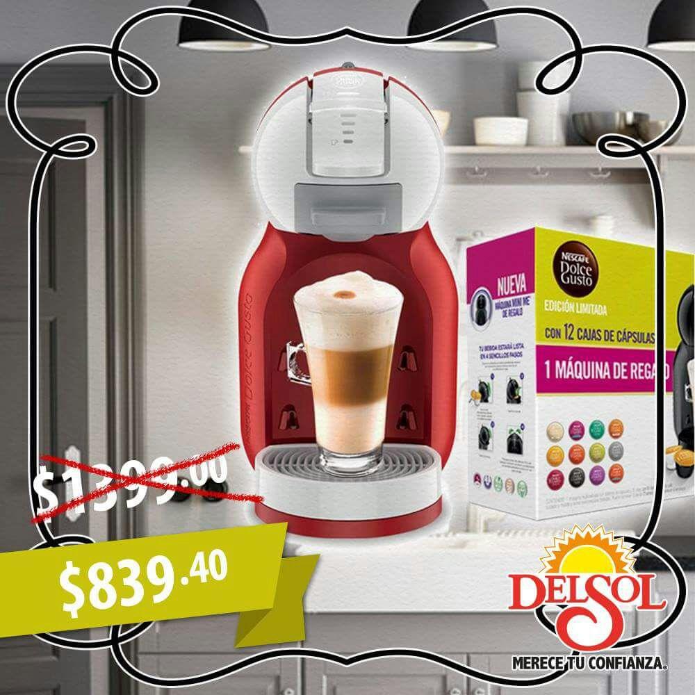 Del Sol en línea y tienda: cafetera Dolce Gusto a $839.40