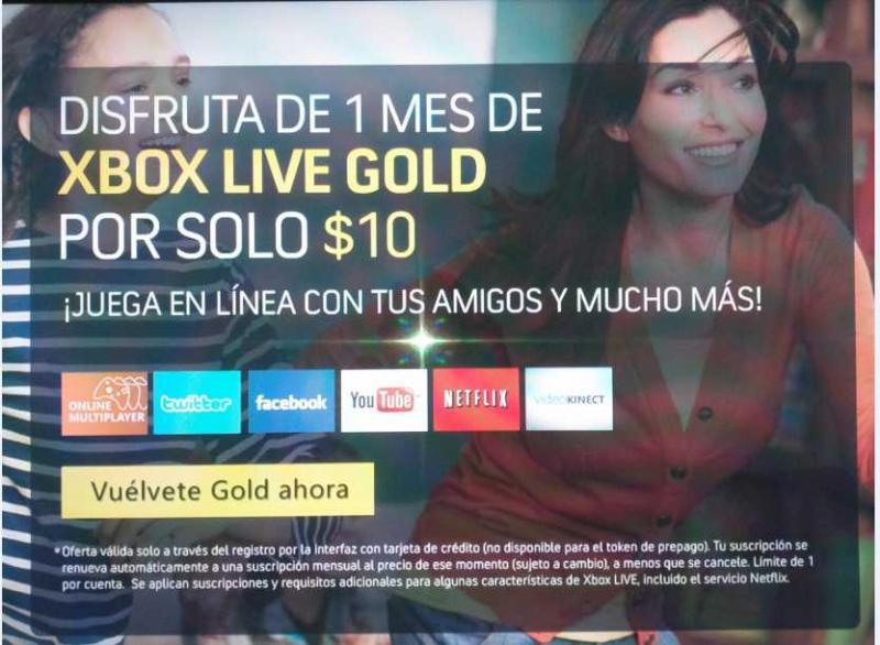 Fin de semana gratis en Xbox Live Gold y $10 por suscripción de 1 mes