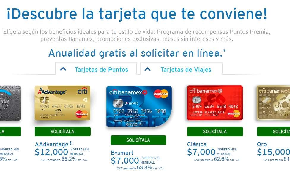 [Obtener el precio más bajo en El Buen Fin] Anualidad gratis de TC Banamex por internet