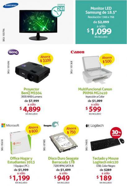"""PCEL: monitor Samsung 18.5"""" $1,099, multifuncional Canon $599 y más"""