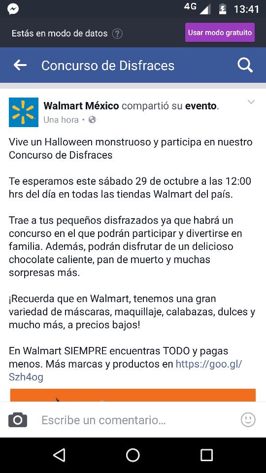 Walmart: Pan de muerto y chocolate gratis 29 de octubre
